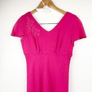 TALBOTS Hot Pink Long Dress 2